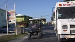 Bimini, Bahamas - Neighborhood Cart and Ice Cream Truck. Stock Footage