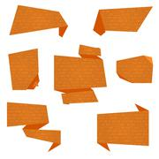 Flat Vector Banners - stock illustration