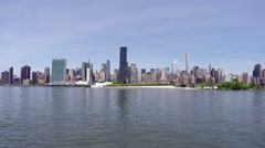Manhattan View from Long Island City in 4k Stock Footage