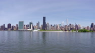 Stock Video Footage of Manhattan View from Long Island City in 4k