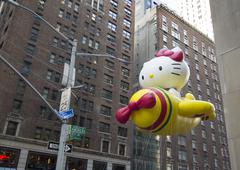 Hello Kitty Balloon in 89th Macys Parade Stock Photos