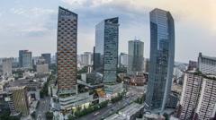 Stock Video Footage of China city night scene, chengdu