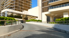 Motion video of the entrance to the St Regis Bal Harbour Stock Footage