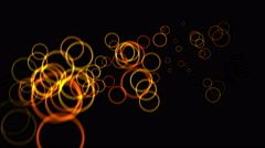 4k Abstract circle light rhythm particles fireworks,bubbles blisters ball dots. Stock Footage
