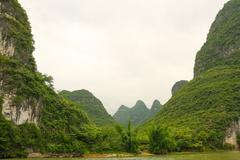 Beautiful karst mountains li river - stock photo