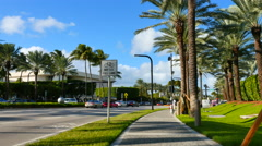 Motion video of the entrance to the St Regis Bal Harbour. Stock Footage