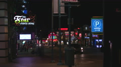 Niagara Falls at Night on Clifton Hill. - stock footage