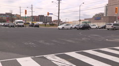 Confused Toronto drivers during power outage and blackout at intersection - stock footage