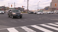Confused Toronto drivers during power outage and blackout at intersection Stock Footage