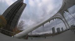 Humber Bay Bridge in Toronto. Stock Footage