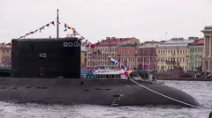 Submarine in Urban Areas Stock Footage