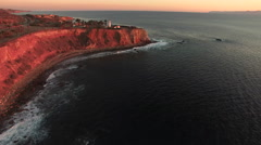 Aerial Flyover Of The Point Vicente Lighthouse - Palos Verdes, California Stock Footage