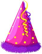 Party hat with decoration - stock illustration