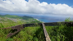 Old Ruins at the Top of Koko Head Stock Footage
