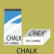 Chalk climbing icon Stock Illustration