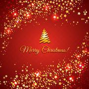 Red Christmas Background - stock illustration