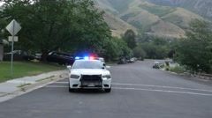 Pulled over by the police . Stock Footage