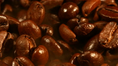 Coffee beans closeup - stock footage