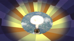3D. Inside the hot air balloon 4K. Ultra HD. Stock Footage