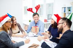 Christmas interaction - stock photo