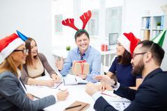 Christmas interaction Stock Photos