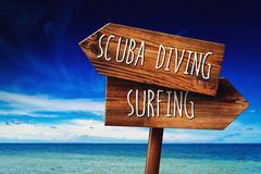 Scuba Diving or Surfing Activity Kuvituskuvat