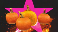Symbolic pumpkins halloween pumpkin Stock Footage