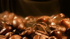 Stock Video Footage of Roasted coffee closeup
