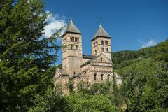 Stock Photo of Murbach monastery at Guebwiller Alsace Vosges France Europe