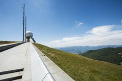 Radar station Grand Ballon Great Belchen Alsace Vosges France Europe - stock photo