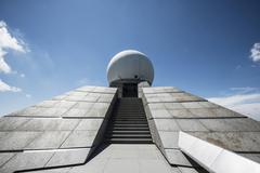 Stock Photo of Radar station Grand Ballon Great Belchen Alsace Vosges France Europe