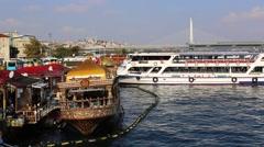 Stambul.Buhta Golden Horn Stock Footage