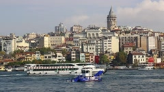 Stambul.Buhta Golden Horn - stock footage