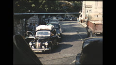 Vintage 16mm film, 1955, arring at France border... Stock Footage