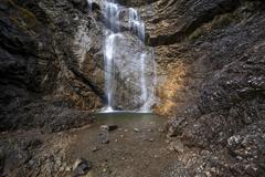 Schleierfall waterfall Bad Oberdorf near Bad Hindelang Allgau Bavaria Germany - stock photo