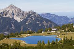 Schafkogelsee lake Hutterer Hoss Hinterstoder Totes Gebirge Upper Austria - stock photo