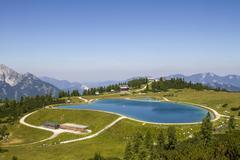 Schafkogelsee lake Hutterer Hoss Totes Gebirge Upper Austria Austria Europe - stock photo