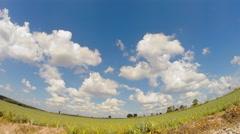 Summer season cloudy sky Stock Footage