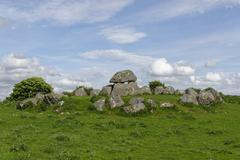Carrowmore Megalithic Cemetery Tomb 7 Carrowmore Connaught Ireland Europe Stock Photos