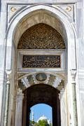 Imperial Gate of Topkapi Palace, Istanbul - stock photo