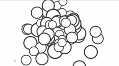 4k Circles bubbles blisters gas spheres dots,eggs particle fireworks background Stock Footage