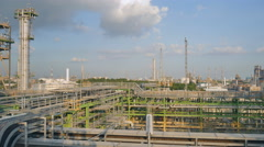 Landscape of Petroleum and refinery plant Stock Footage