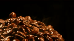 Roasted coffee closeup Stock Footage