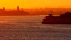SI Ferry Dusk Stock Footage
