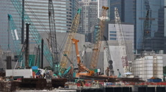 Hong kong construction site at finance district. Stock Footage
