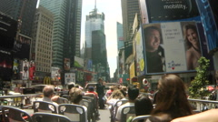 Times Square Circle Line Time Lapse - stock footage