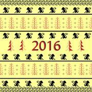 Stock Illustration of Monkey 2016 new year ornamental background