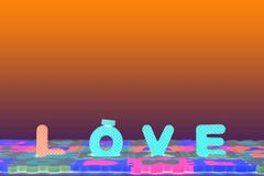Abstract background of love, Light effect of love. - stock photo