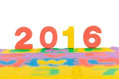 Stock Photo of Happy new year light effect background, Colorful background of new year 2016.