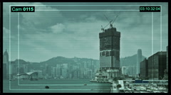 Cctv Surveillance camera on construction sites in Hong Kong. Stock Footage